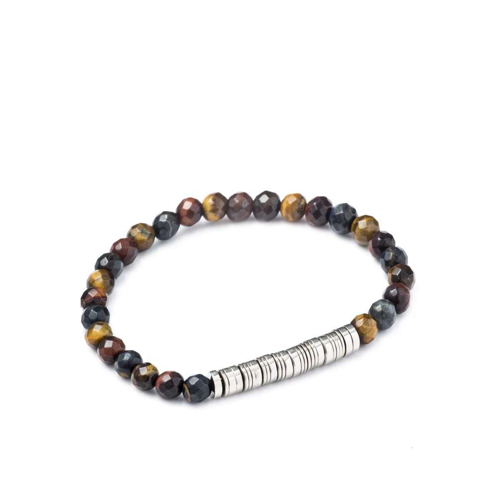 Braccialetto uomo - perle colorate