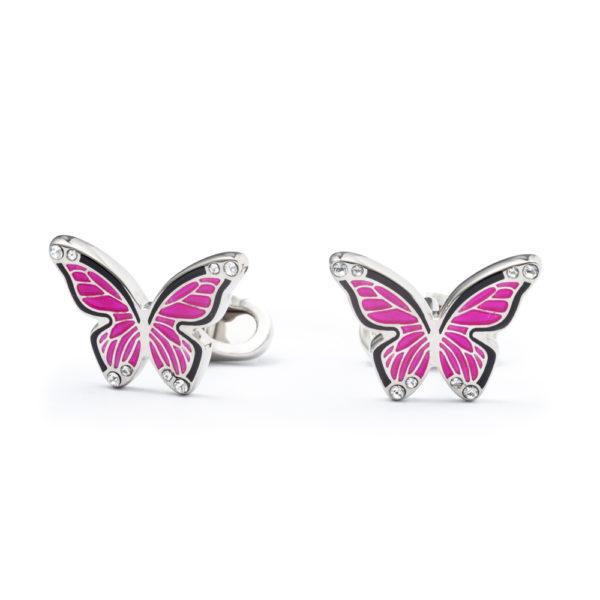 """""""Farfalla"""" rosa - Gemelli da polso"""