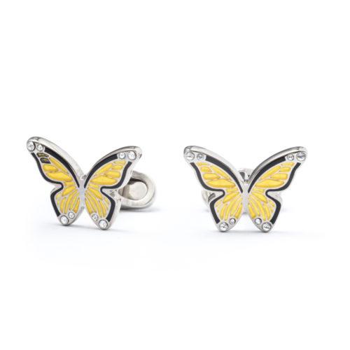 """""""Farfalla"""" gialla - Gemelli da polso"""